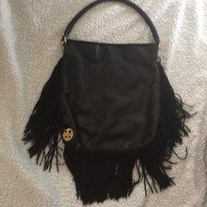 Fringe Tory Burch Leather Bag